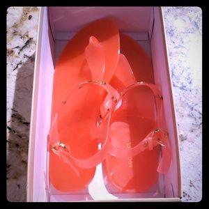 MK Jelly gold Plate sandal
